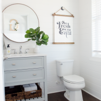 DIY Powder Room Makeover